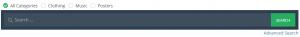 wordpress category search radio