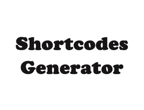 ZF Shortcodes Generator